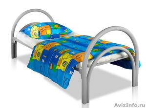 Металлические кровати для бытовок, кровати для вагончиков, кровати для лагерей - Изображение #1, Объявление #1478837