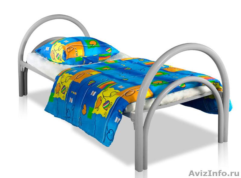 Металлические кровати для бытовок, кровати для вагончиков, кровати для лагерей, Объявление #1478837